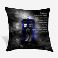 Tardis Doctor Who Quote Pillow Case