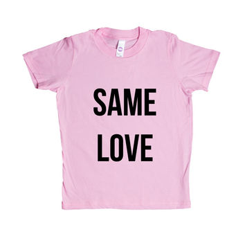 Same Love Gay LGBT Pride On Lesbian Bisexual Transgender Asexual Pansexual Relationship Relationships SGAL6 Unisex Kid's Shirt
