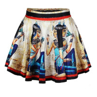 Women's Egyptian Print Short Skirts Women Dress Mini Dress -NOT Ancient Egypt Greece Necklace Ring Dress Sock Coin = 1946090628