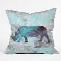 Deniz Ercelebi Rhino 2 Throw Pillow