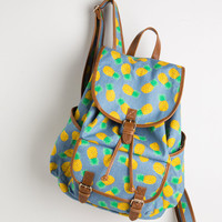 Victory is Pineapple! Backpack | Mod Retro Vintage Bags | ModCloth.com