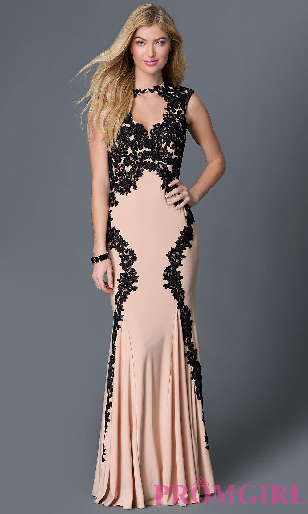 Sleeveless Lace Embellished Floor Length from PROMGIRL.COM | Prom
