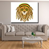 Rasta Lion Canvas Set