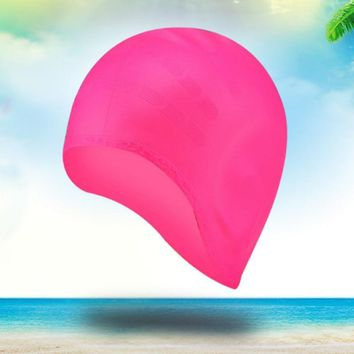 Swimming Caps Women Silicone Waterproof Long Hair Ear Protect Hat Adult Swimming Accessories