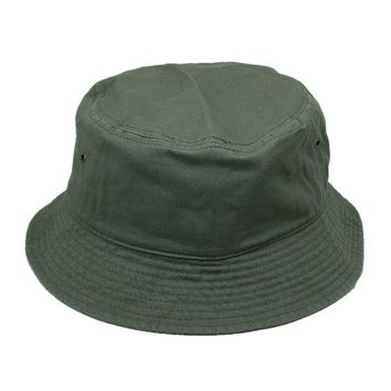 Men Women 100% Cotton Fishing BUCKET HAT CAP Boonie Brim visor Sun Safari D-GRAY
