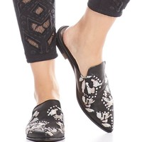 Dolce Vita Harmony Floral Embroidery and Stud Detail Mules | Dillards