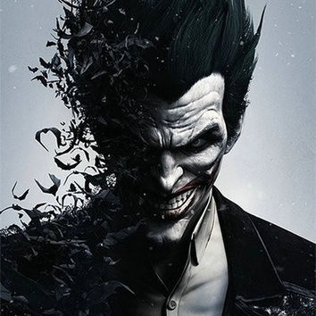 Batman Arkham Origins Silk Canvas Wall Poster Joker Gone Bats Video Game Boys Room decor 24x36inch  07 (Size: 60cm by 90cm) = 1928044804