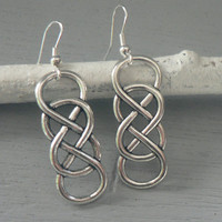 Double Infinity Symbol Earrings Eternal Love Forever Friendship Couple Best Friend BFF Revenge Inspired