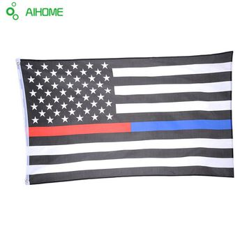 Hot Selling Thin Blue & Red Line Police & Fire Respect and Honor Law Enforcement Flag 3 x 5ft 90 x 150cm 1 Pieces