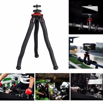 2017 New Octopus Spider Flexible Mini Portable Tripod Stand w/ Ballhead +Phone Holder for iPhone Samsung Camera Sony A7 A6300