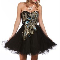 Balbina-Black Homecoming Dresses