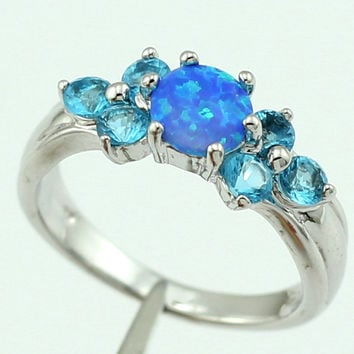 Blue  Opal & Topaz Ring (LIMITED SUPPLY!)
