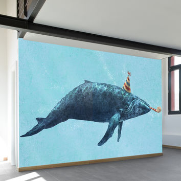 Party Whale Wall Mural