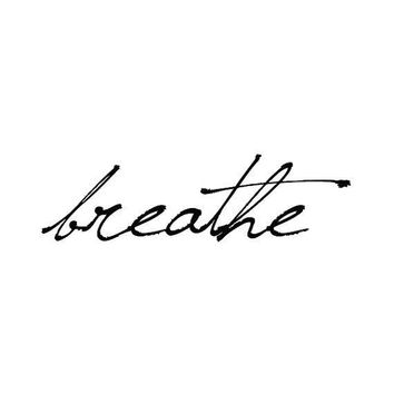 Breathe   Temporary Tattoo (set Of 2)