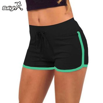 2018 Women Sports Yoga Shorts Workout Fitness Running Sport Shorts Cotton High Waist Gym Cycling Sport Short Feminino Plus Size