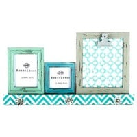 Turquoise Photo Frames with 3-Knobs | Shop Hobby Lobby