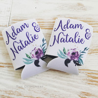 Wedding Can Coolers | Watercolor Wedding Favors