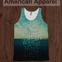 Wanderers Tee - American Apparel Tank Top Dye Sublimation