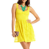 Sweetheart Lace A-Line Dress: Charlotte Russe