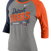 Nike Detroit Tigers Womens Dark Gray Cooperstown Long Sleeve LS Tee