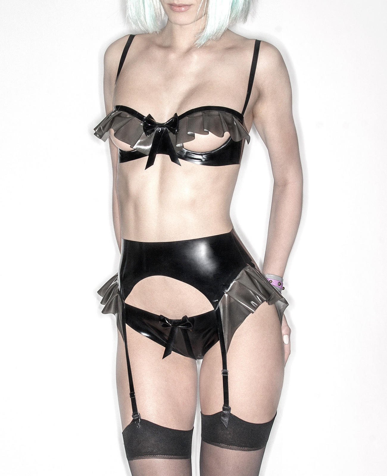 756e2cf838d Kitty Latex Open Cup Bra in Black from bordellolingerie.com