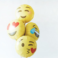 Emoji Foil Balloon Set 14""