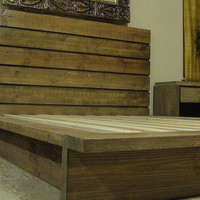 Queen Rustic Platform Bed