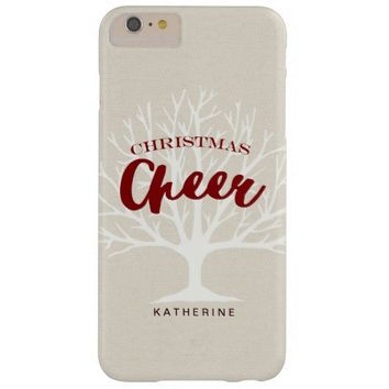 Modern Christmas Cheer Script Holiday Barely There iPhone 6 Plus Case