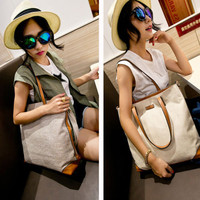 Women Signature Cotton Shoulder Bags Tote Purse Lady's Fashion Messenger Hobo