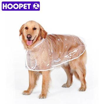 HOOPET Dog Raincoat big Dog Medium-sized Dogs Pet Waterproof Clothing Jacket Clothes Puppy Casual
