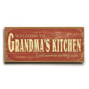 Personalized Grandma's Kitchen Wood Sign
