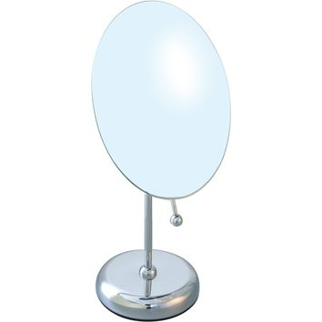 BR Vanity Countertop Round 5X One-Sided Cosmetic Makeup Magnifying Mirror