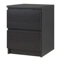 "MALM Chest with 2 drawers - black-brown, 15 3/4x21 5/8 "" - IKEA"