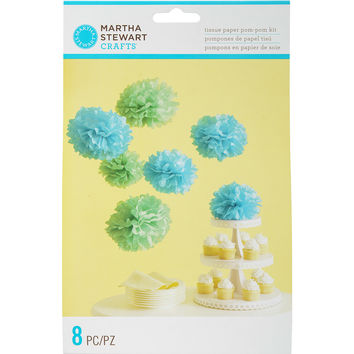Tissue Paper Pom-Pom Kit Makes 8-Blue