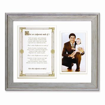 What Are Godparents Made of Poem and Photo Frame - Perfect Grandparents Gift