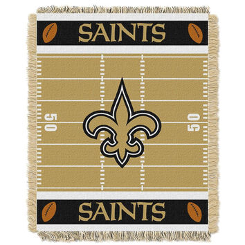 New Orleans Saints NFL Triple Woven Jacquard Throw (Field Baby Series) (36x48)
