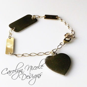 Charm Bracelet (Shapes) by Carolyn Nicole Designs