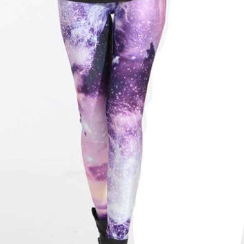 Galaxy Cosmic Nebula Space Leggings
