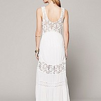 Free People Womens Daydream Lace Pieced Maxi - Eggplant,