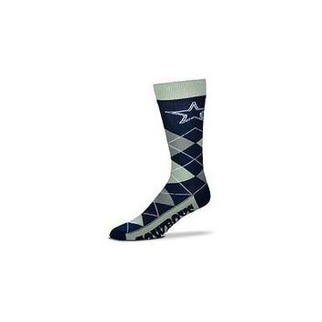 NFL Dallas Cowboys Argyle Unisex Crew Cut Socks - One Size Fits Most