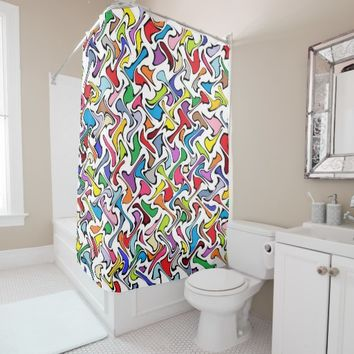 Whimsical Colors Shower Curtain