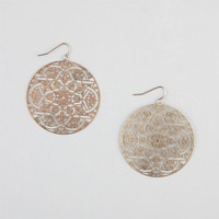 Full Tilt Medallion Cut Out Earrings Gold One Size For Women 23890462101
