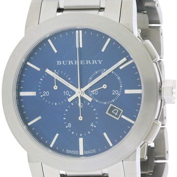 Burberry Check Stamped Chronograph Watch BU9363