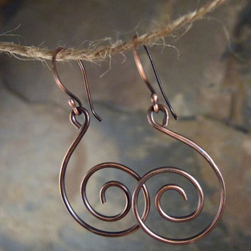 Spiral Hoop Earrings, Geometric Jewelry, Alexander Calder