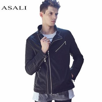 Leather Jacket Men Punk Suede jackets Luxury Fashion Coats Casual Leather Coats