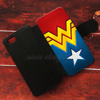 Wonder woman Wallet iPhone cases Logo Samsung Wallet Leather Logo Phone Cases