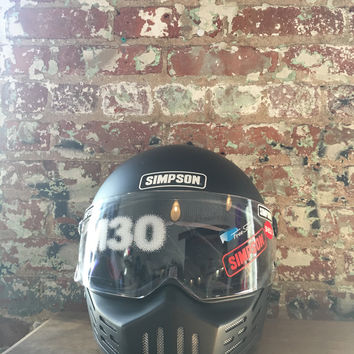 Simpson M30 Motorcycle Helmet, Matte Black