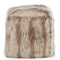 Silver Fox Faux-Fur Pouf