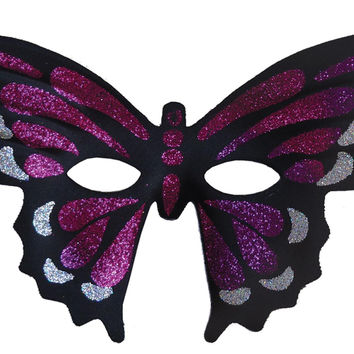 Butterfly Masquerade Mask Purp