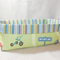 Fun Road Themed Fabric Basket